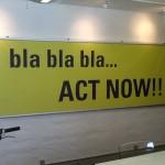 bla bla bla meeting sign